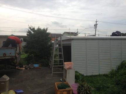 愛知県一宮市の車庫の解体工事