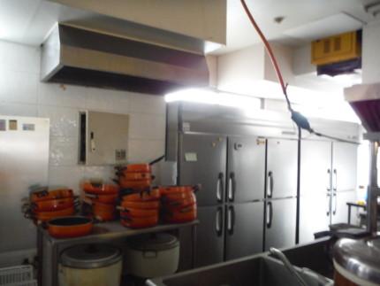 厨房機器の撤去
