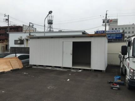 岐阜市の倉庫の撤去開始