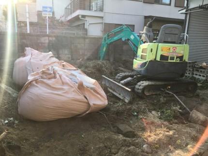 重機作業|庭石の撤去処分|名古屋市南区
