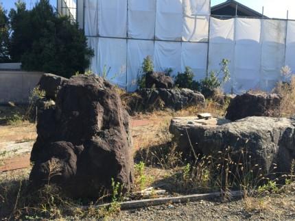 着工前|庭石の撤去|愛西市