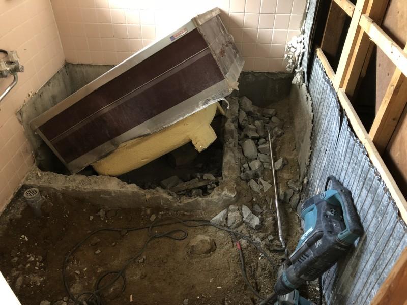 お風呂の解体|風呂おけ撤去|愛知県犬山市