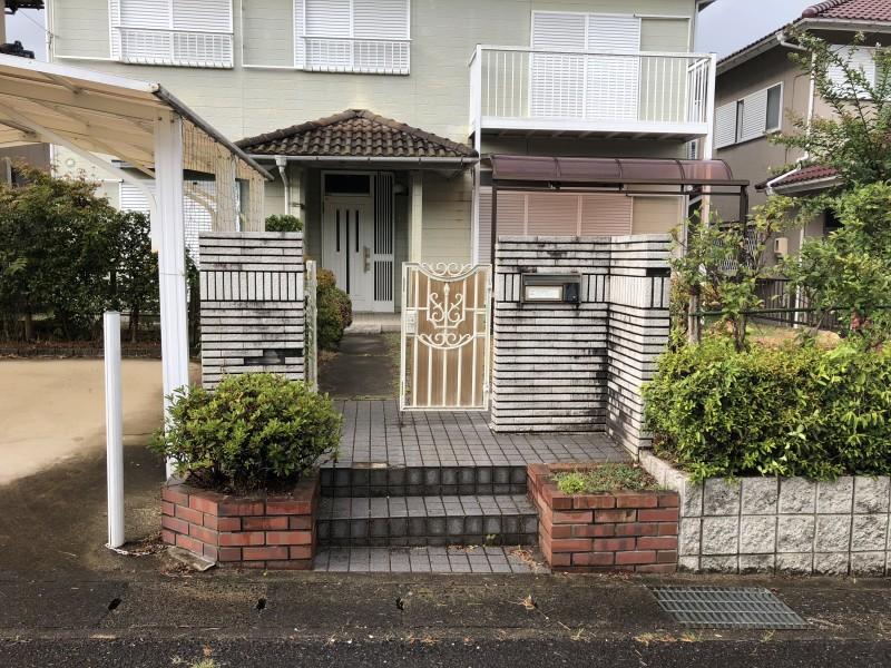 岐阜県可児市 ブロック塀、土間コンクリート解体