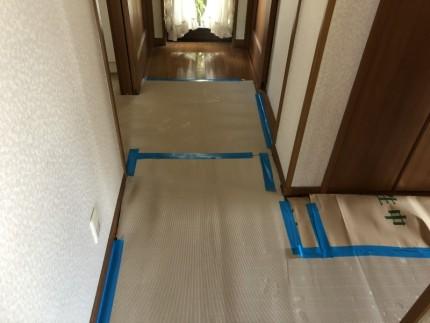 愛知県犬山市|ユニットバスの解体撤去|養生