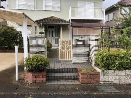 岐阜県可児市|庭の解体|駐車場の拡張|着工前