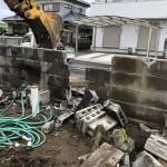 愛知県江南市ブロック塀の撤去