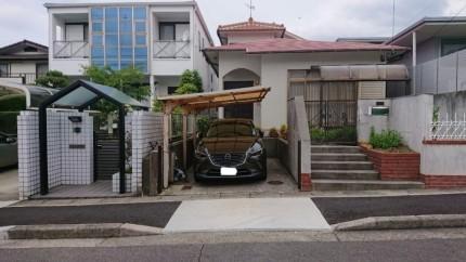 撤去前 名古屋市名東区のカーポート