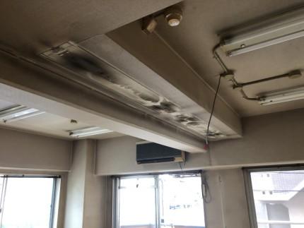 照明撤去後|名古屋市中川区の美容室の現状復旧