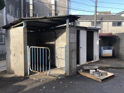 愛知県犬山市|ブロック積み保管庫の解体工事