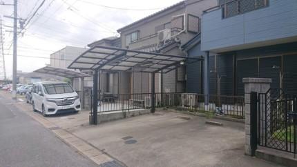 名古屋市緑区カーポートの撤去【撤去前】