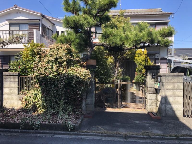 名古屋市中村区の庭石撤去お見積調査