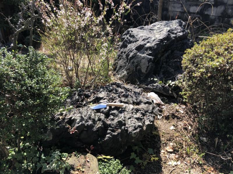 名古屋市中村区の庭石撤去のお見積調査