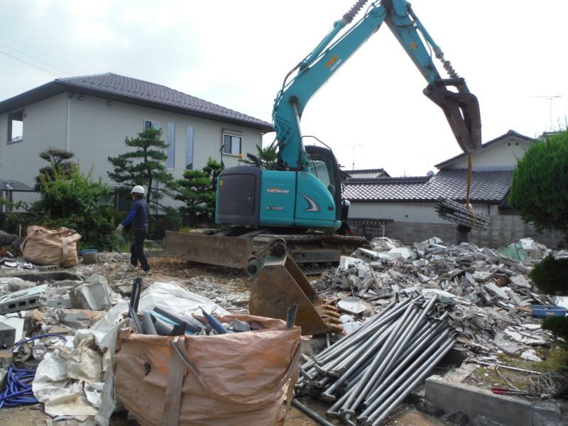 愛知県犬山市の鉄骨造2階建て解体工事