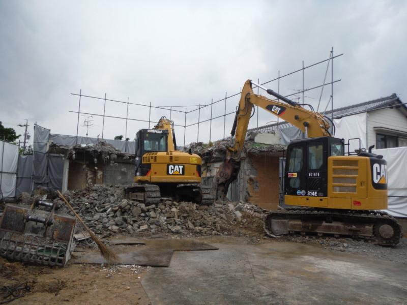 名古屋市千種区コンクリート造2階建て住宅の解体工事