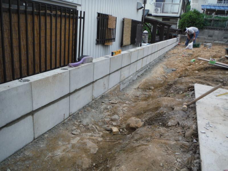 愛知県犬山市の敷地まわりブロック設置工事【解体と新設】