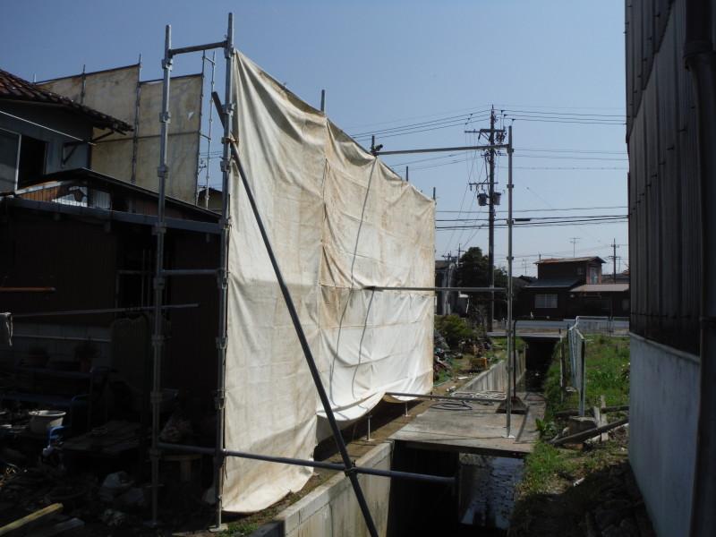 春日井市の火災現場の解体工事