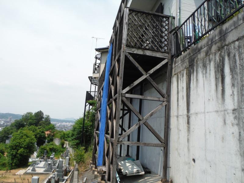 岐阜県可児市のベランダ解体工事お見積もり調査