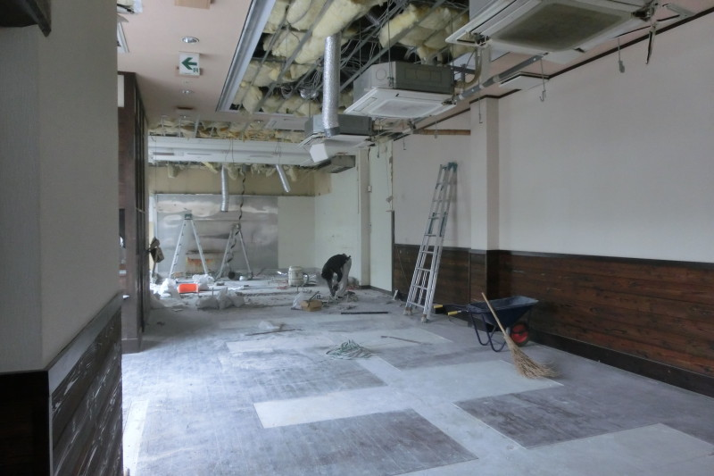 名古屋市千種区の飲食店の内装解体