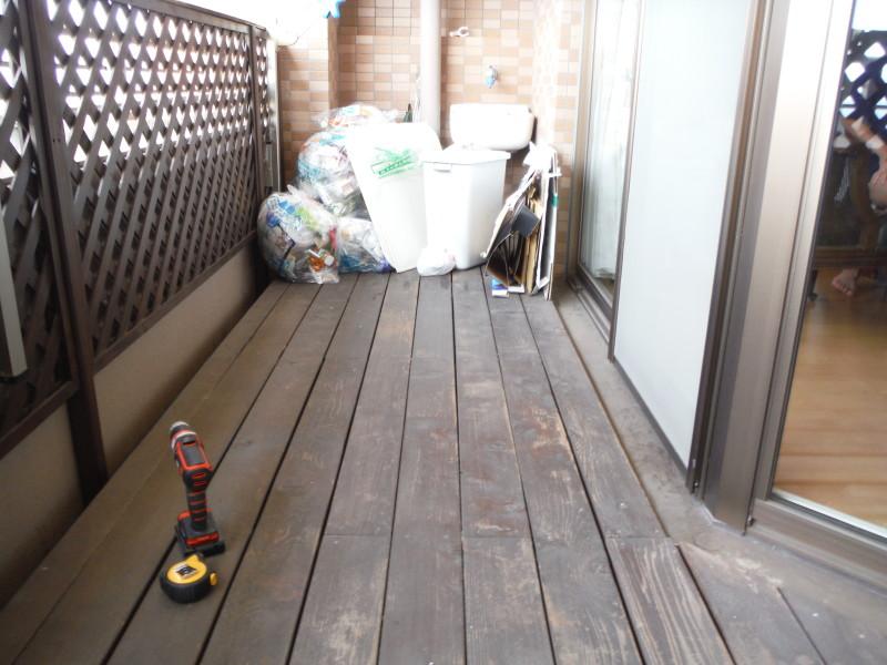 名古屋市天白区のウッドデッキ解体工事