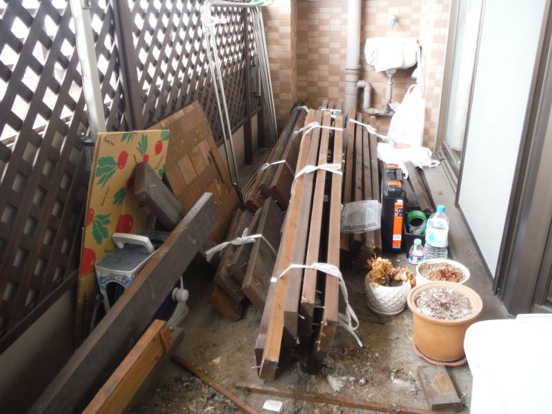 名古屋市天白区のウッドデッキの解体工事