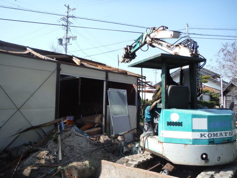 刈谷市プレハブの解体工事