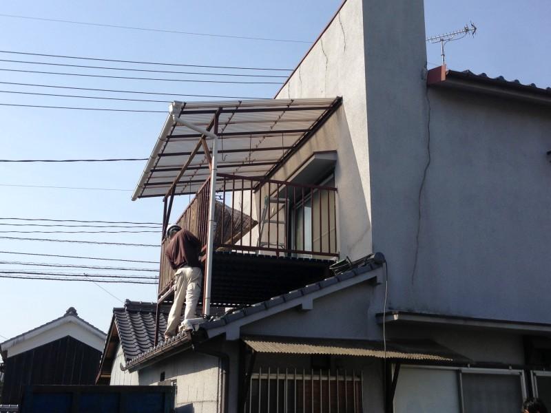 岐阜県各務原市のベランダ解体工事