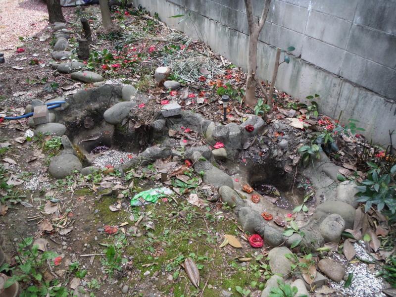 名古屋市昭和区の池の撤去