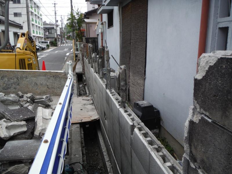 名古屋市守山区 ブロック塀の解体工事