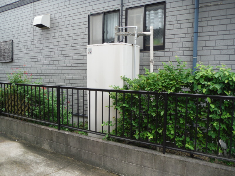 春日井市の温水タンク撤去