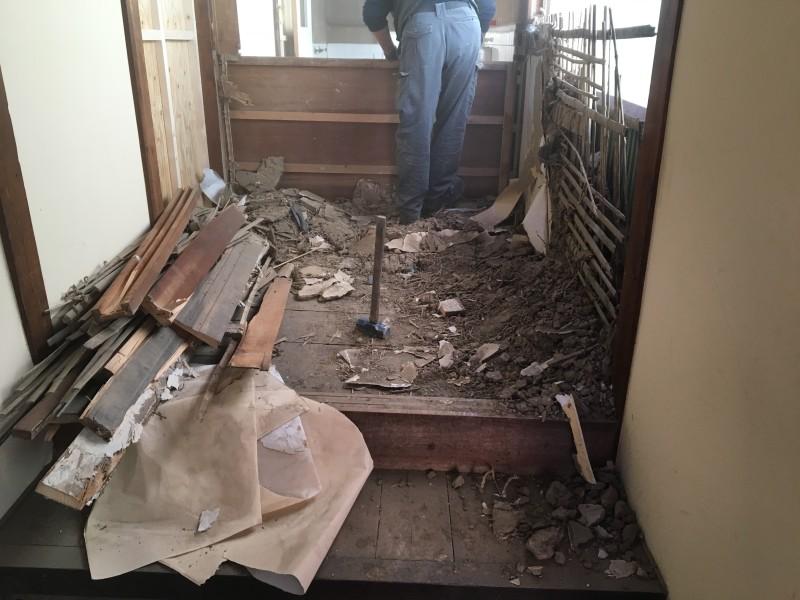 【費用事例】愛知県犬山市の木造住宅の内装解体が着工【手壊し】