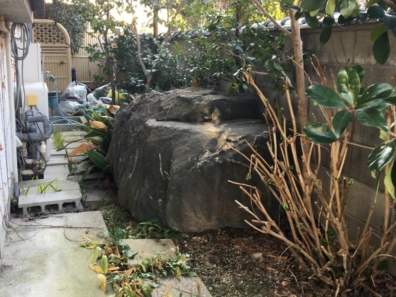 名古屋市名東区の庭石の撤去処分お見積り調査