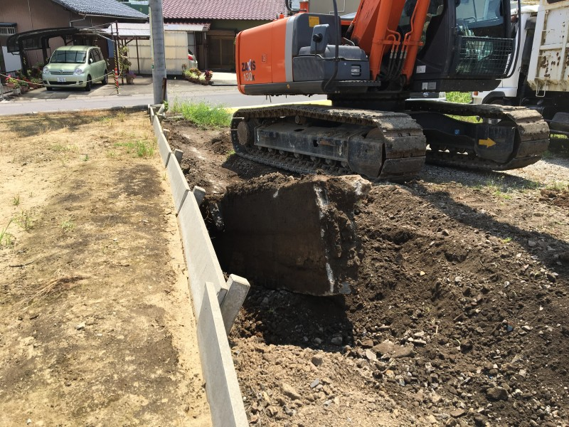 コンクリート擁壁撤去|岐阜県各務原市