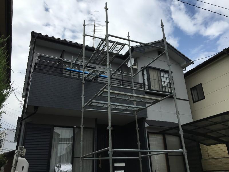 屋根温水器パネル撤去作業|愛知県江南市