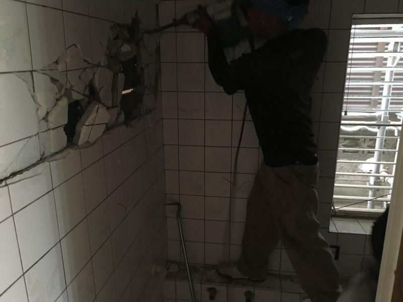 お風呂のハツリ解体工事 春日井市