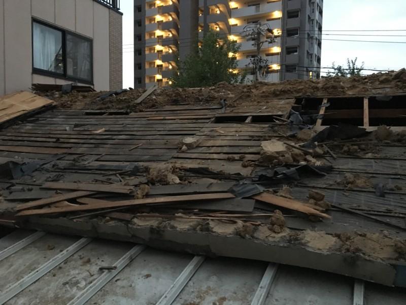 名古屋市西区の木造住宅の解体工事