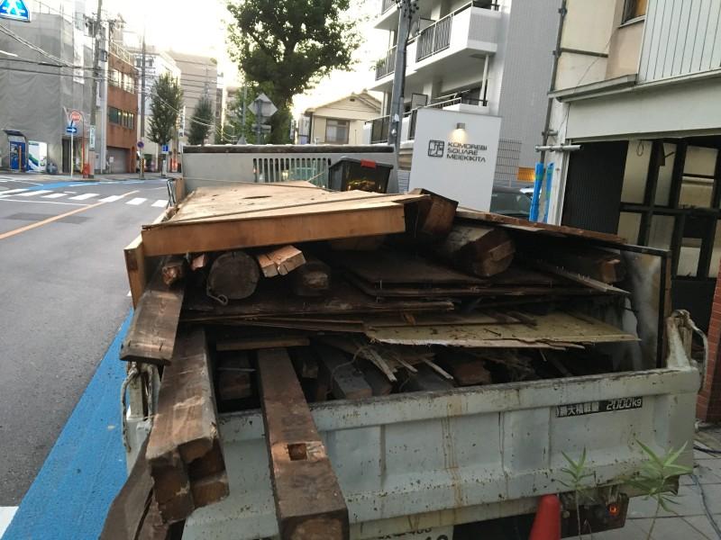 名古屋市西区の手壊し解体 屋根撤去