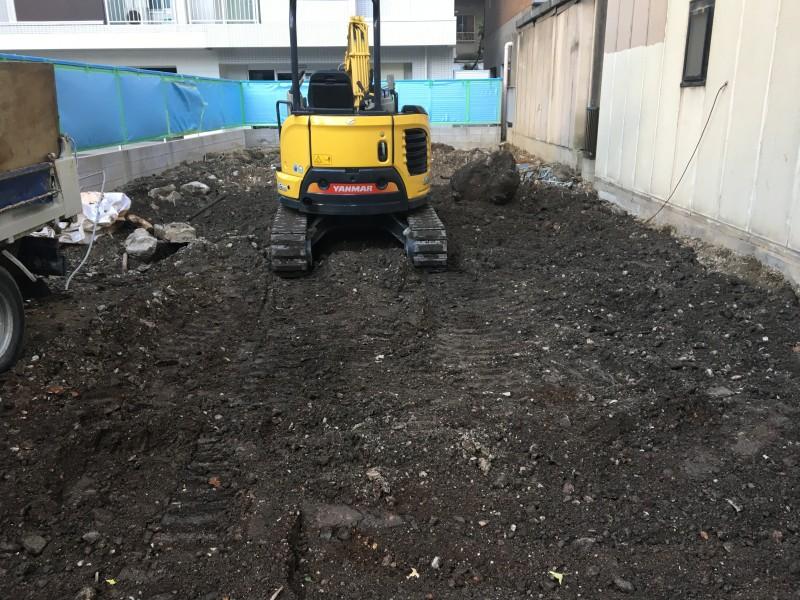名古屋市西区の解体工事|コンクリート基礎の撤去