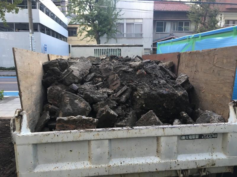 名古屋市西区の解体工事 積込完了
