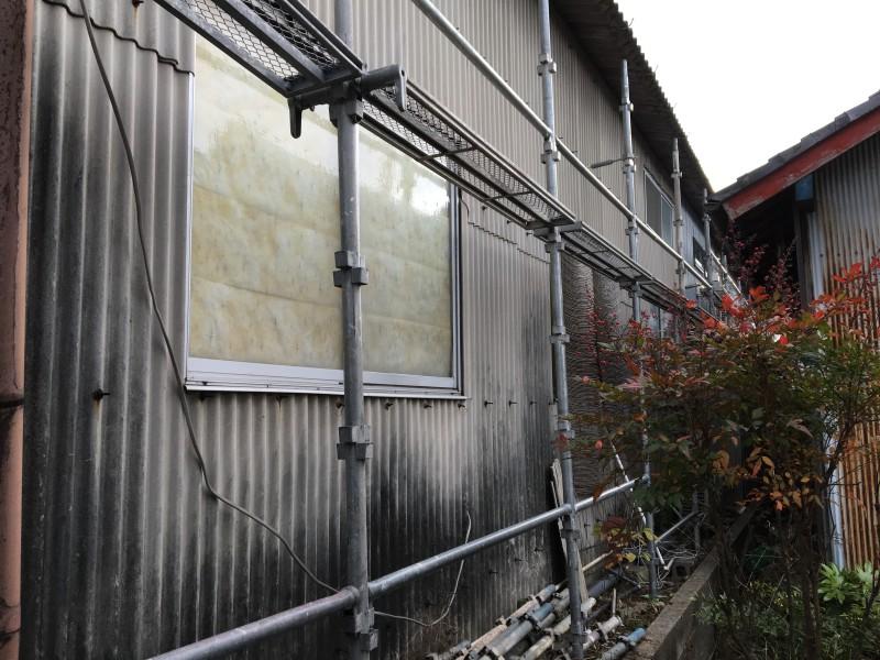 小牧市スレート壁|撤去前