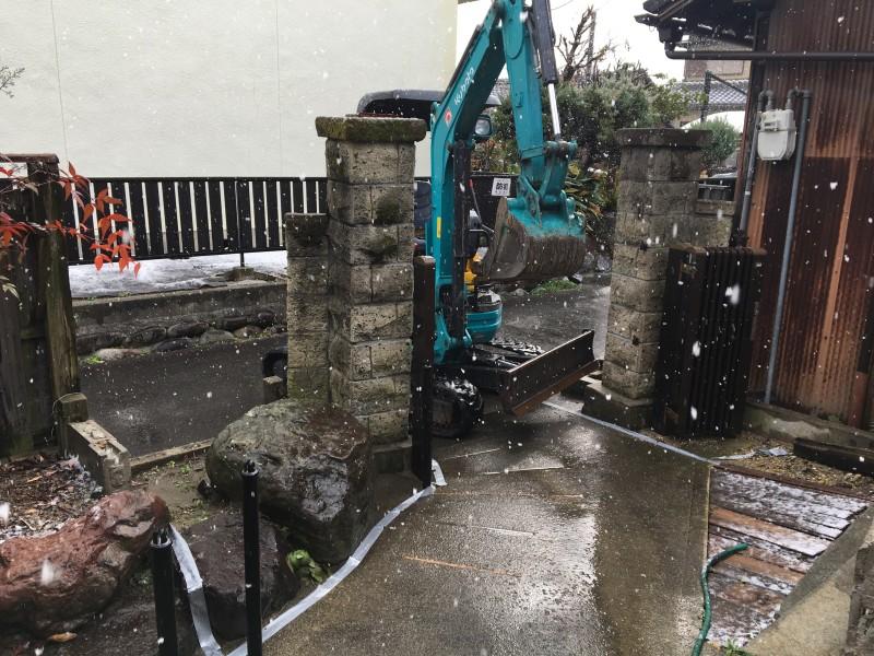 門柱撤去|名古屋市中川区