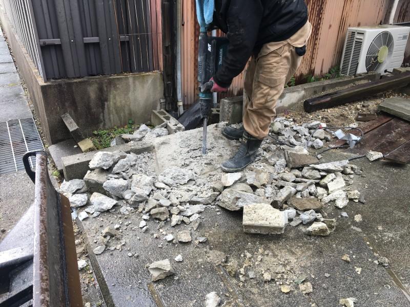 門柱はつり|名古屋市中川区