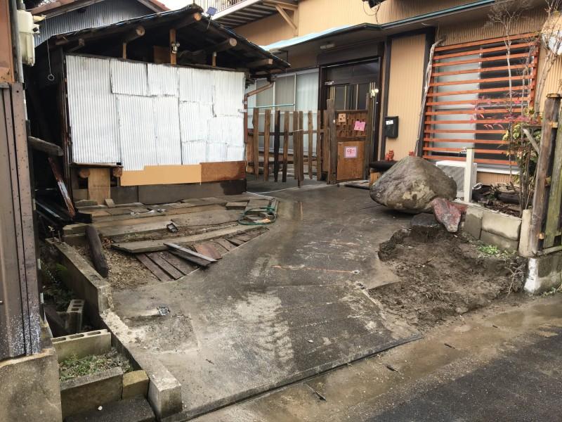 門柱撤去が完工|名古屋市中川区