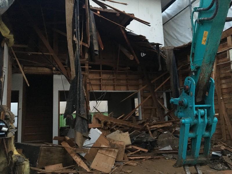 木造2階建て重機解体|犬山市