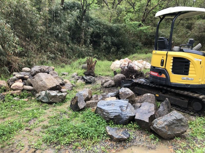 庭石の撤去 名古屋市守山区