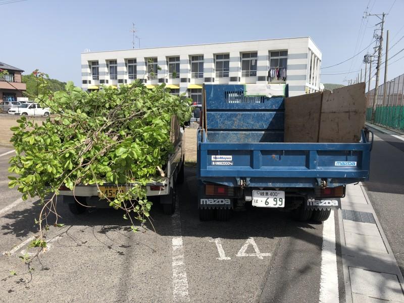 岐阜市 庭木廃材積替え
