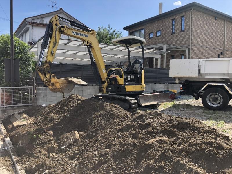 名古屋市中村区 ブロック塀の解体工事