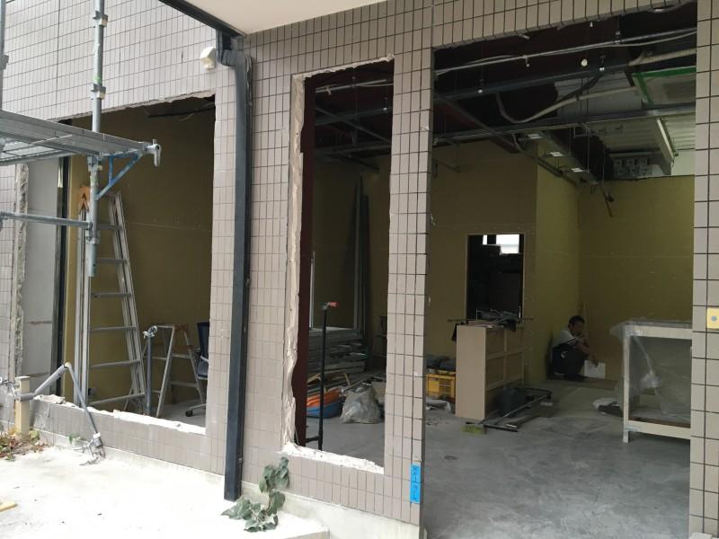 外壁ALCはつり工事|完工