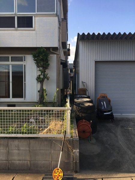 北名古屋市|木造住宅の解体工事|境界フェンス