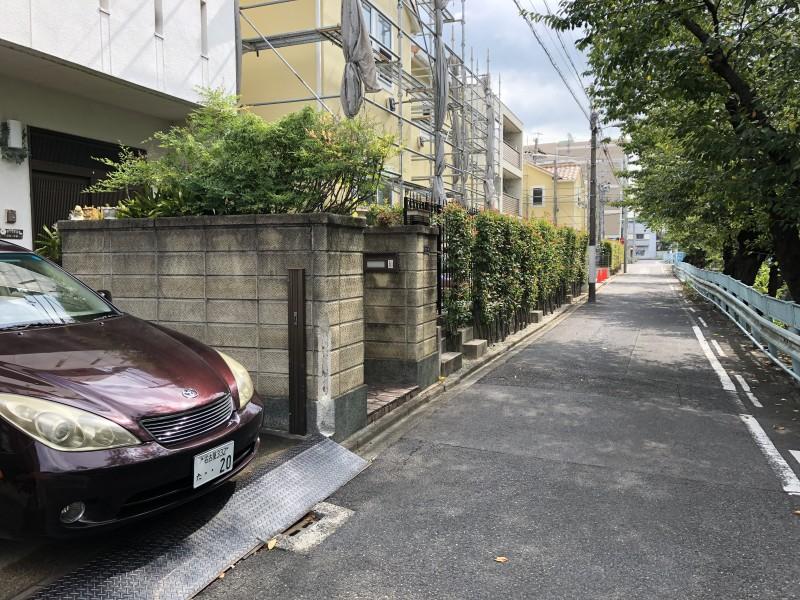 名古屋市千種区|ブロック塀撤去お見積り|道幅が狭い