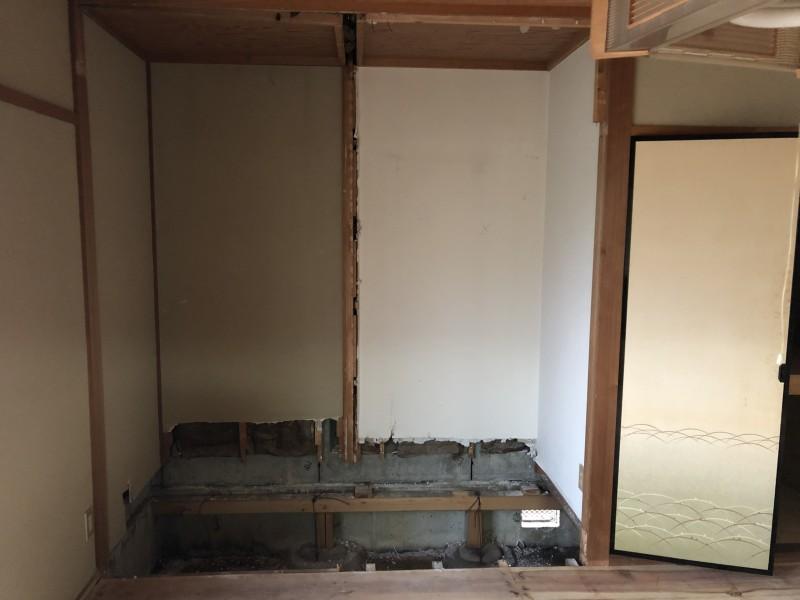 内装解体|間仕切り壁の撤去|完工